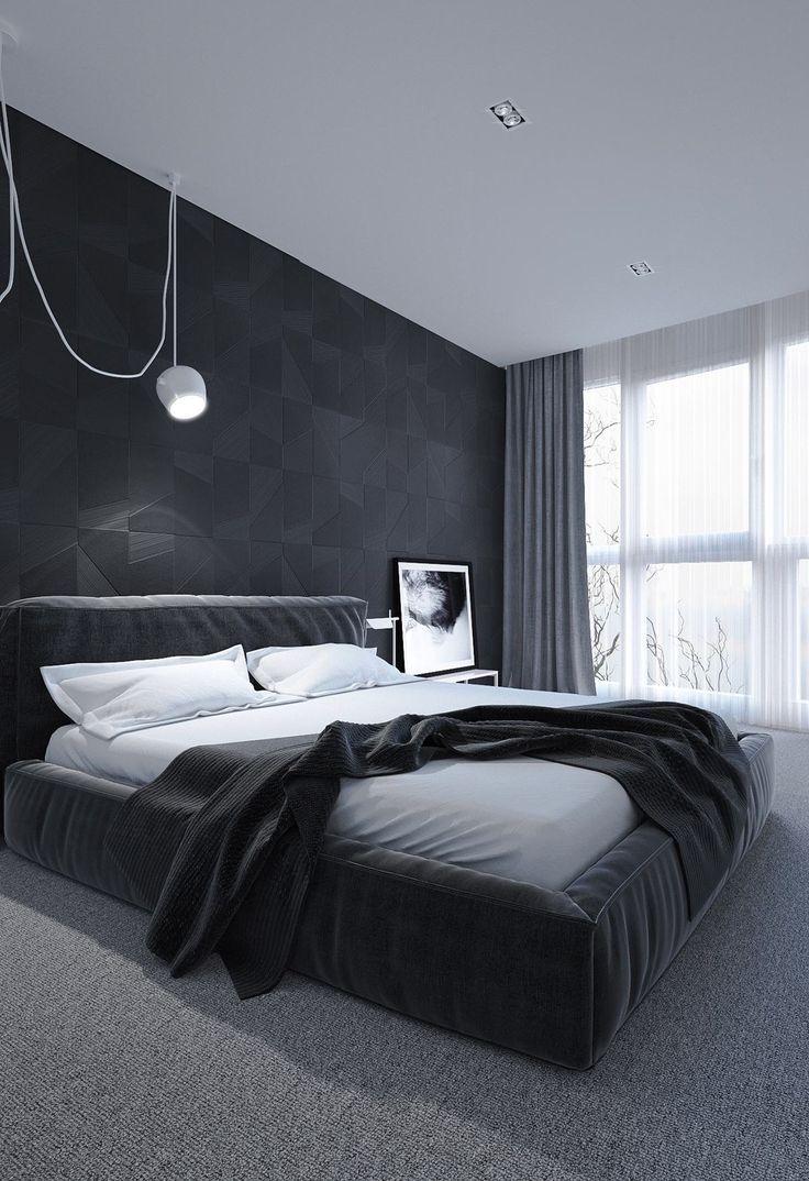 13 dunkle Schlafzimmer-Designs, süße Träume zu inspirieren ...