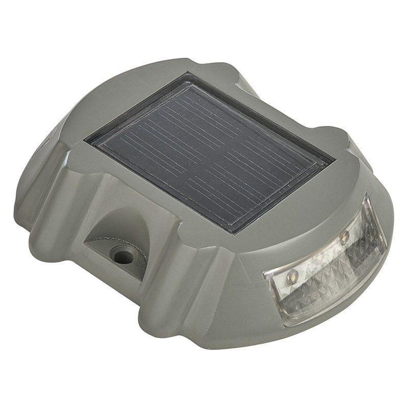 Paradise Solar Led Accent Lights Installation: Paradise Garden Lighting Solar Cast Aluminum Deck Marker