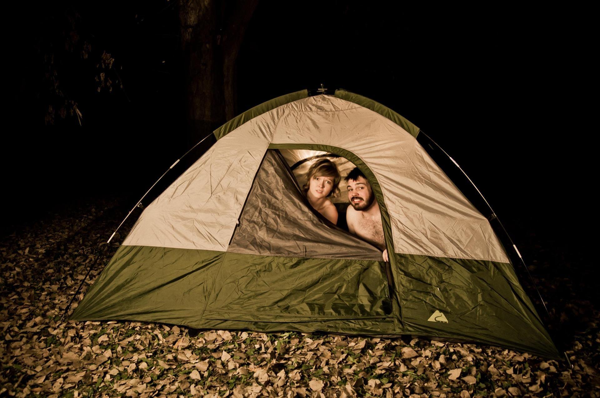 Milf Outdoor Sex In Tent