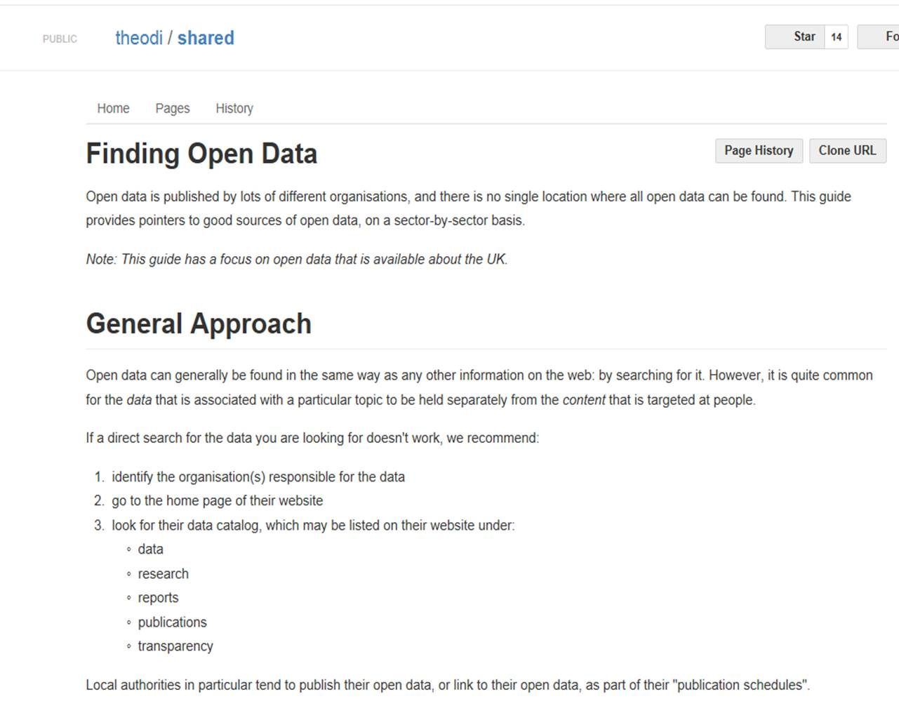 The ODI offer a number of useful resources, blog posts, events that open up