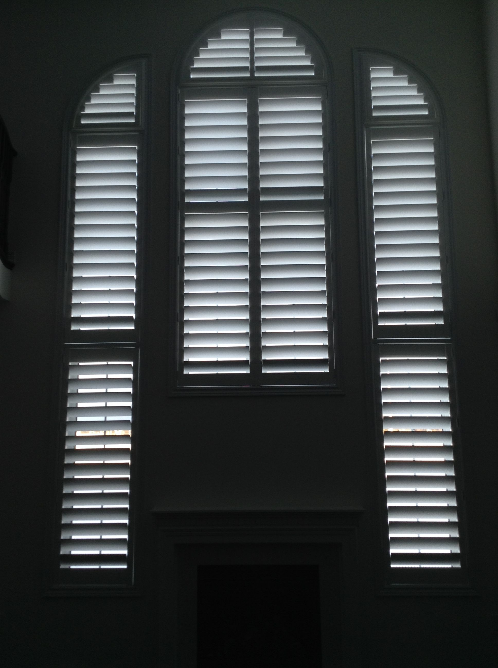 Window coverings shutters  wall of shutters installed by giorgio and trevor pus pus and