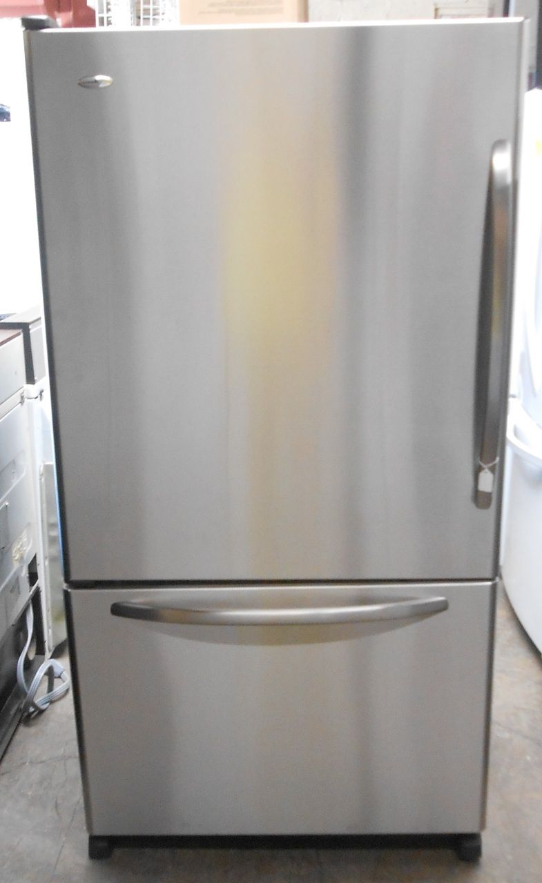 Appliance city amana stainless steel bottom mount 20cf