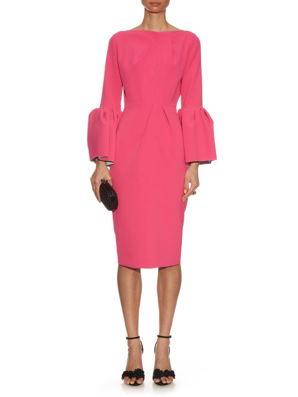 Margot bell-sleeved crepe dress   Roksanda   MATCHESFASHION.COM UK