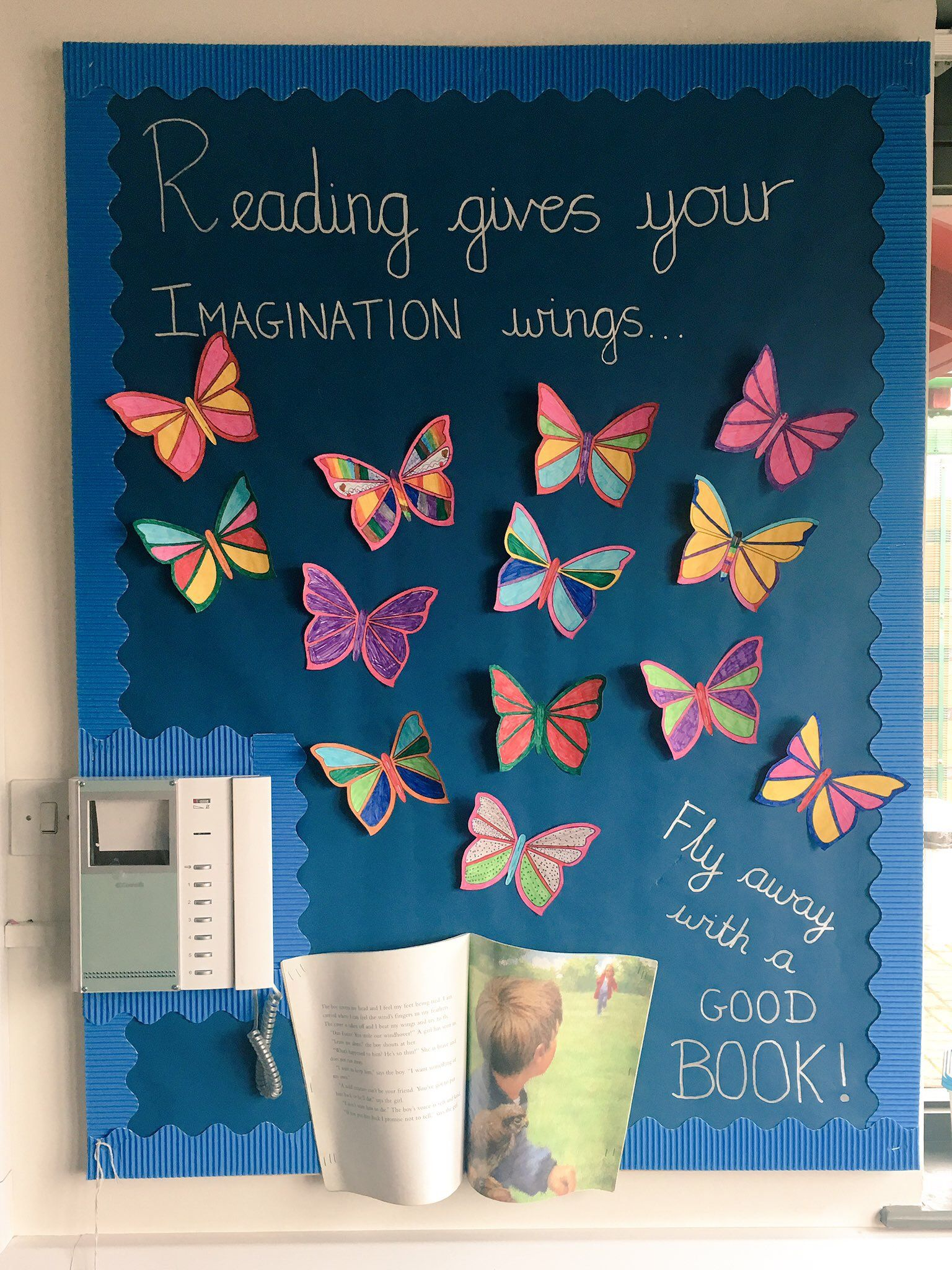 Reading Gives Your Imagination Wings Ks2 Reading Display