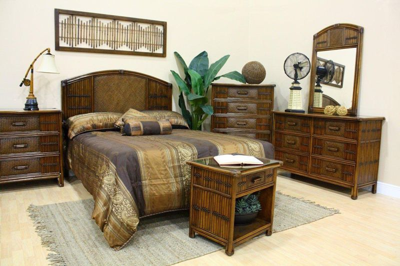 Polynesian Wicker Bedroom Suite By Hospitality Rattan