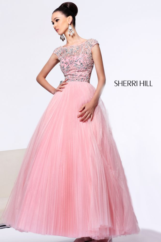 2013 Sherri Hill 2984 Pink Silver Homecoming Dresses | Sherri Hill ...