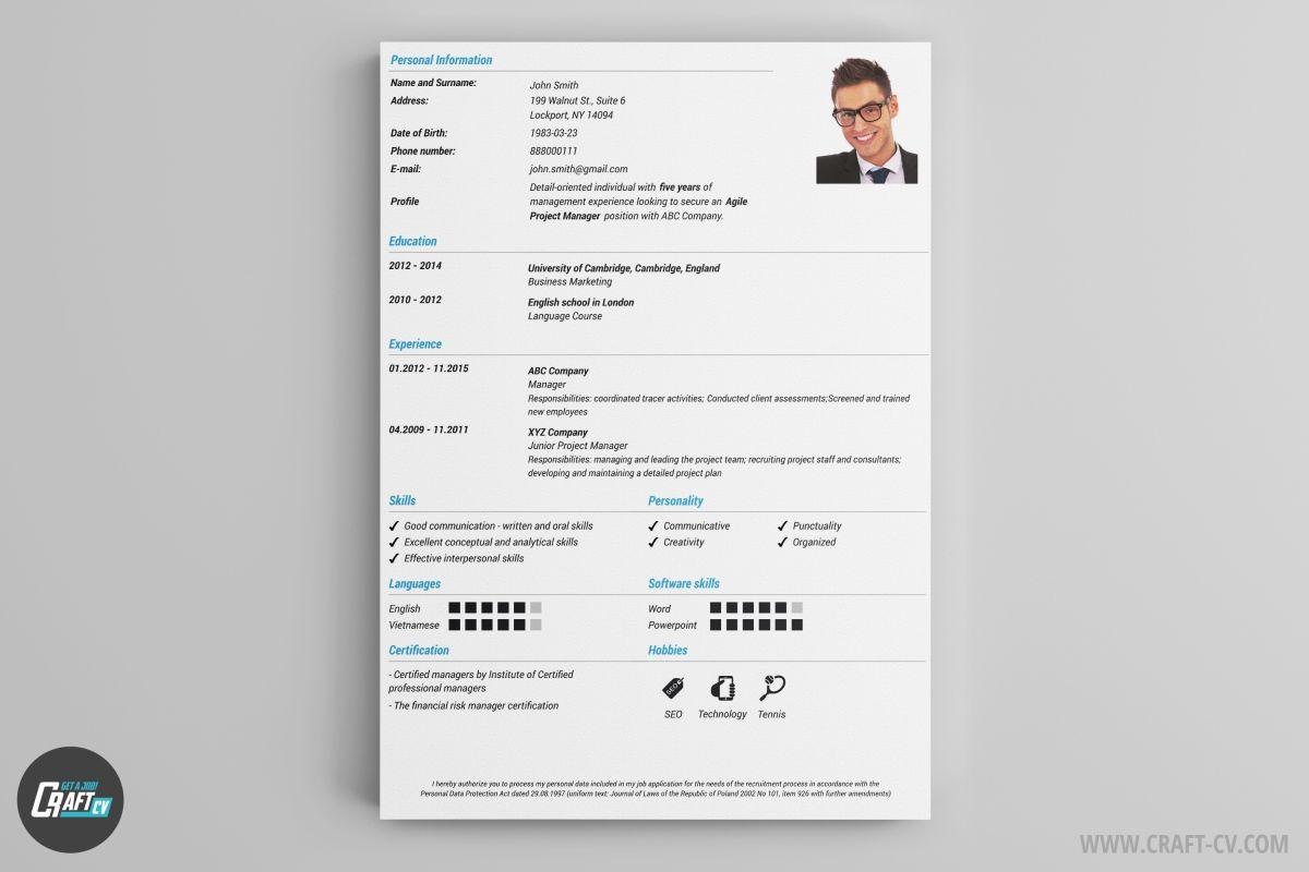 Resume Builder 36 Resume Templates Download Craftcv Cv Maker Creative Cv Template Cv Examples