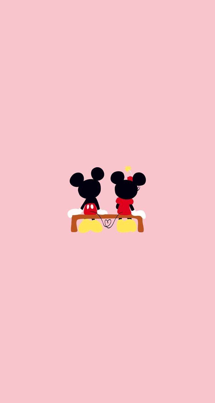 Valentine S Day Wallpaper Lockscreen Heart Mickey Minnie