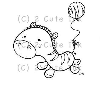zebra balloon 2 cute ink digital