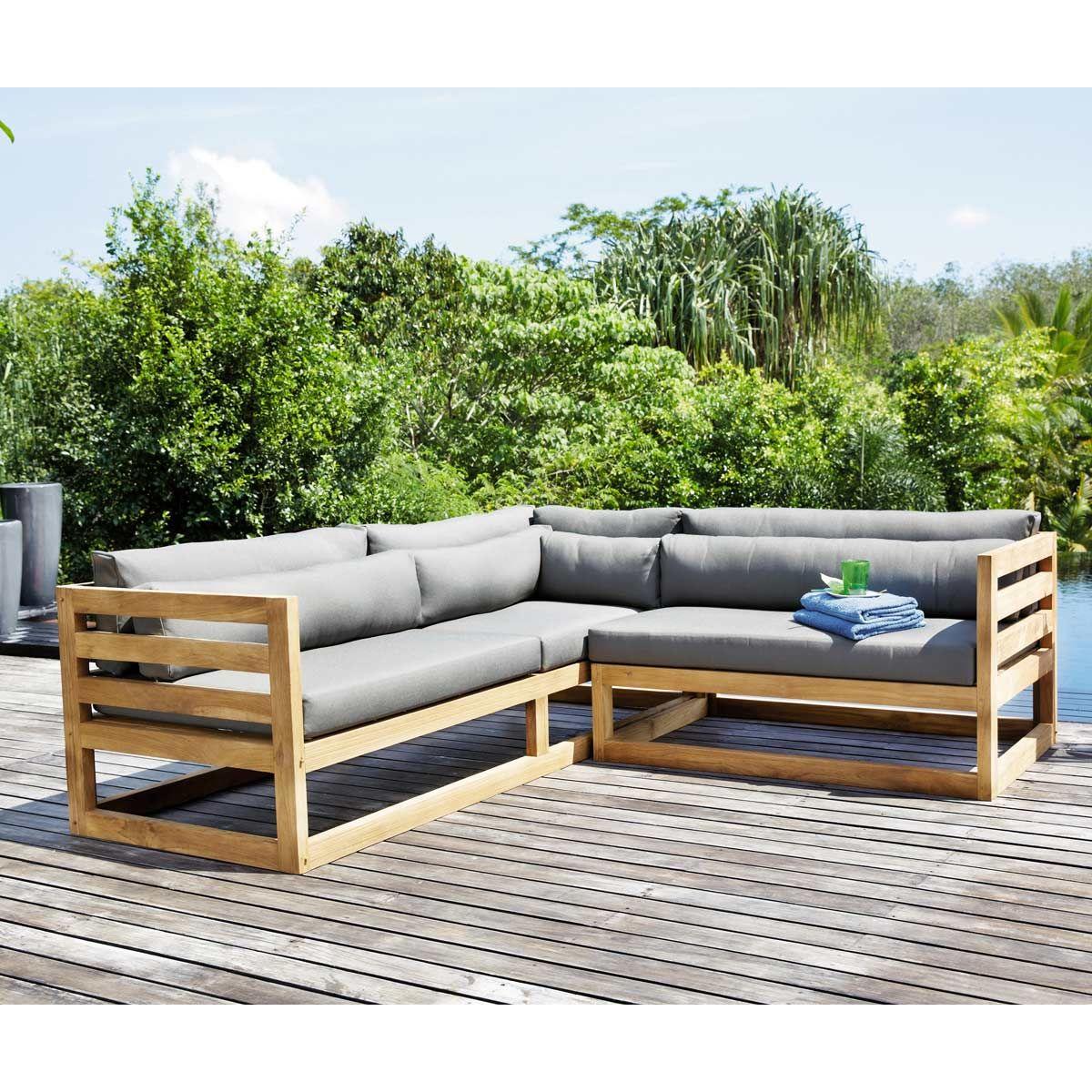 3 4 seater teak garden corner sofa cyclades gardens. Black Bedroom Furniture Sets. Home Design Ideas