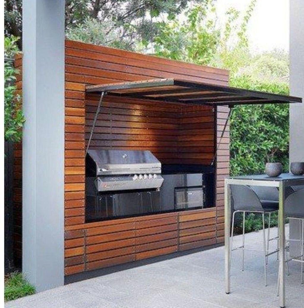 37 Beautiful Modern Outdoor Kitchen Design Ideas In 2020 Modern Outdoor Kitchen Outdoor Bbq Kitchen Summer Kitchen