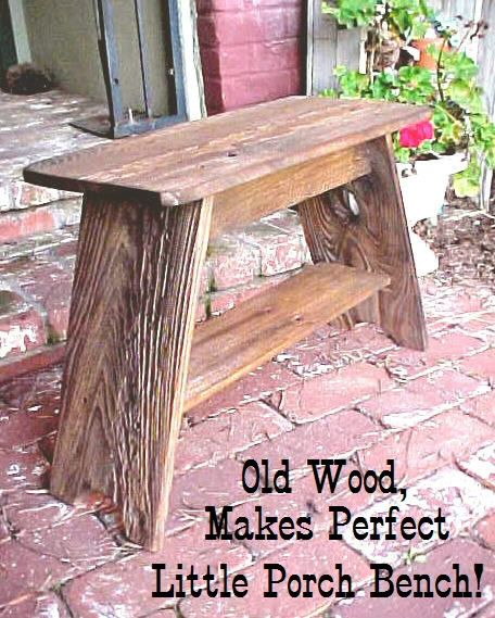 BENCH / Simple - A Simple Little Patio-Porch-Garden Bench - ((Great Price - Easy S)) - Rustic, Americana - See Pics/Details. $32.95, via Etsy.