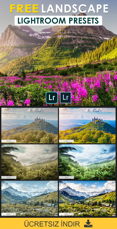 Ozel Peyzaj Lightroom On Ayarlari In 2021 Photoshop Landscape Lightroom Presets Matte Lightroom Preset