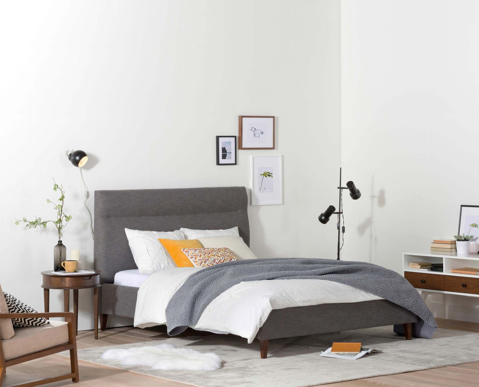 Curate A Modern Bedroom With The Tambur Bed From Scandinavian Designs. The  Tall Headboard And