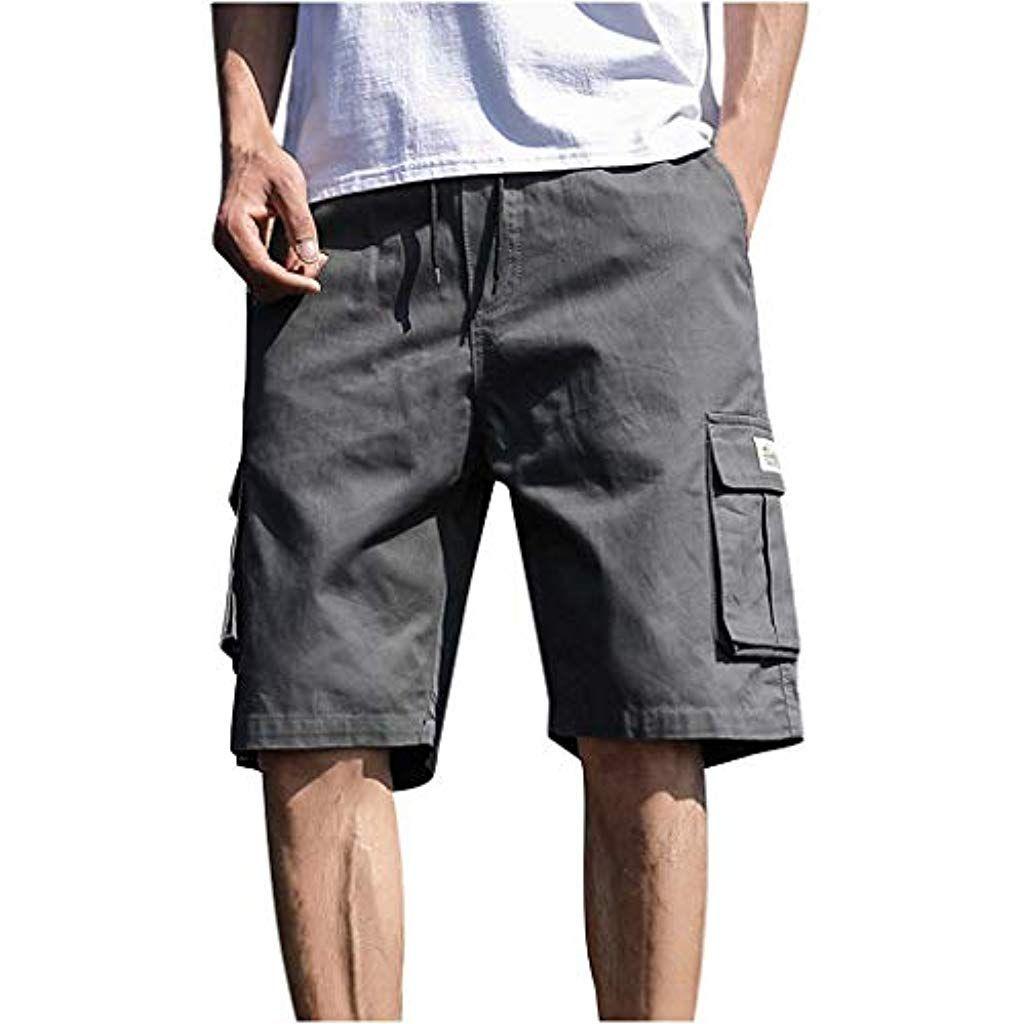 Herren Cargo Shorts Taschen Kurze Hose Vintage Bermuda Chino Casual NEU