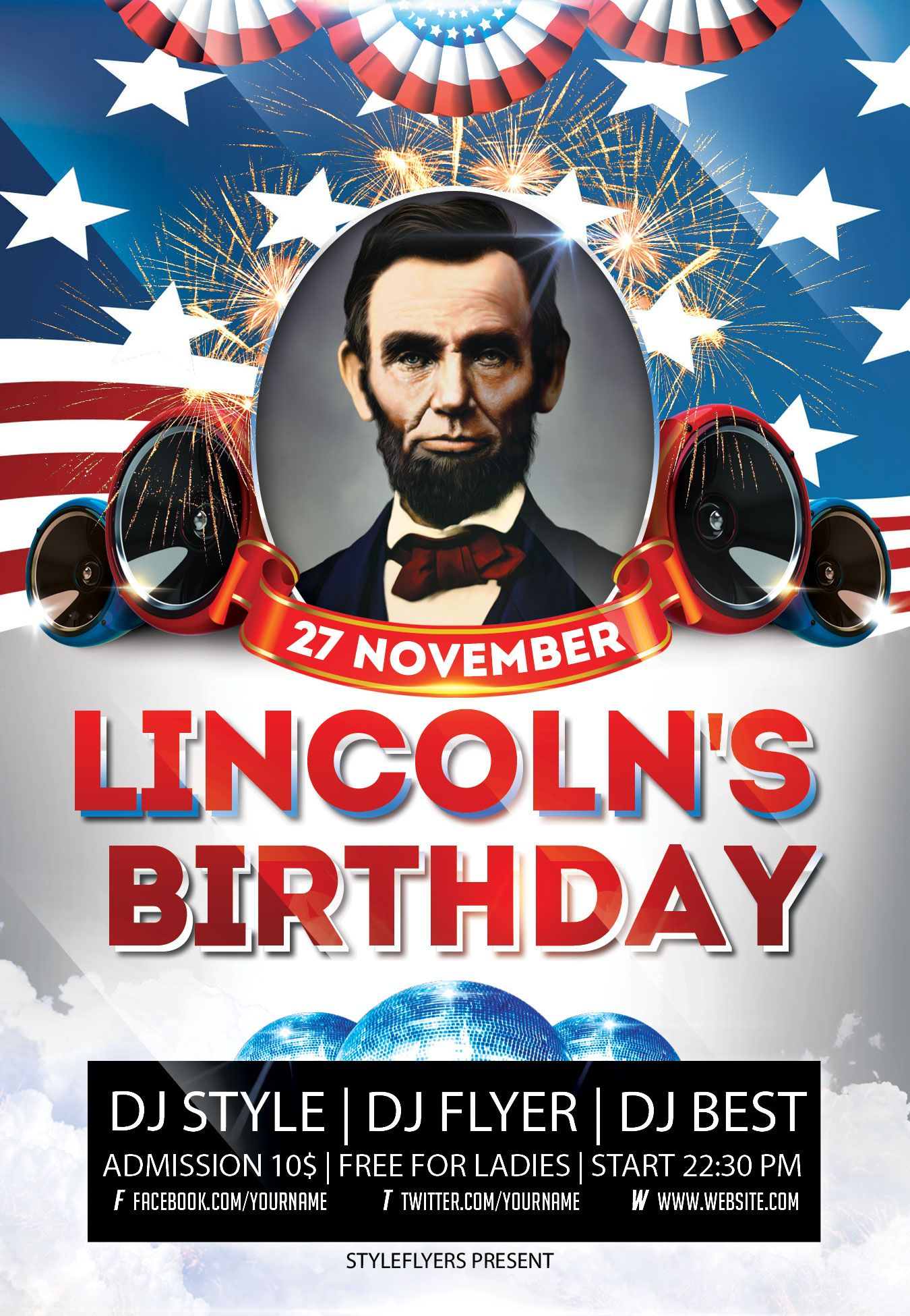 Lincoln S Birthday Flyer Psd Template