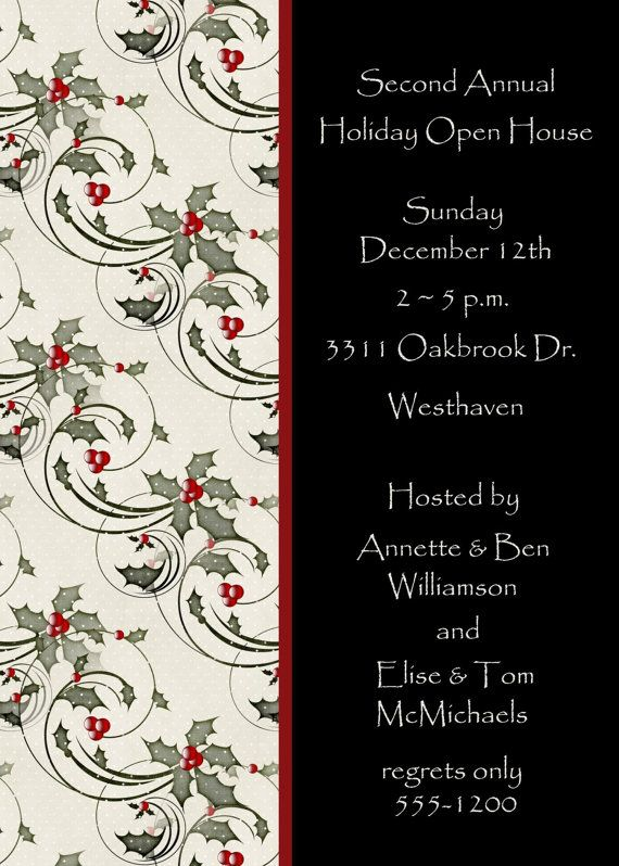 Christmas Open House Invitation by celebrationspaperie on Etsy
