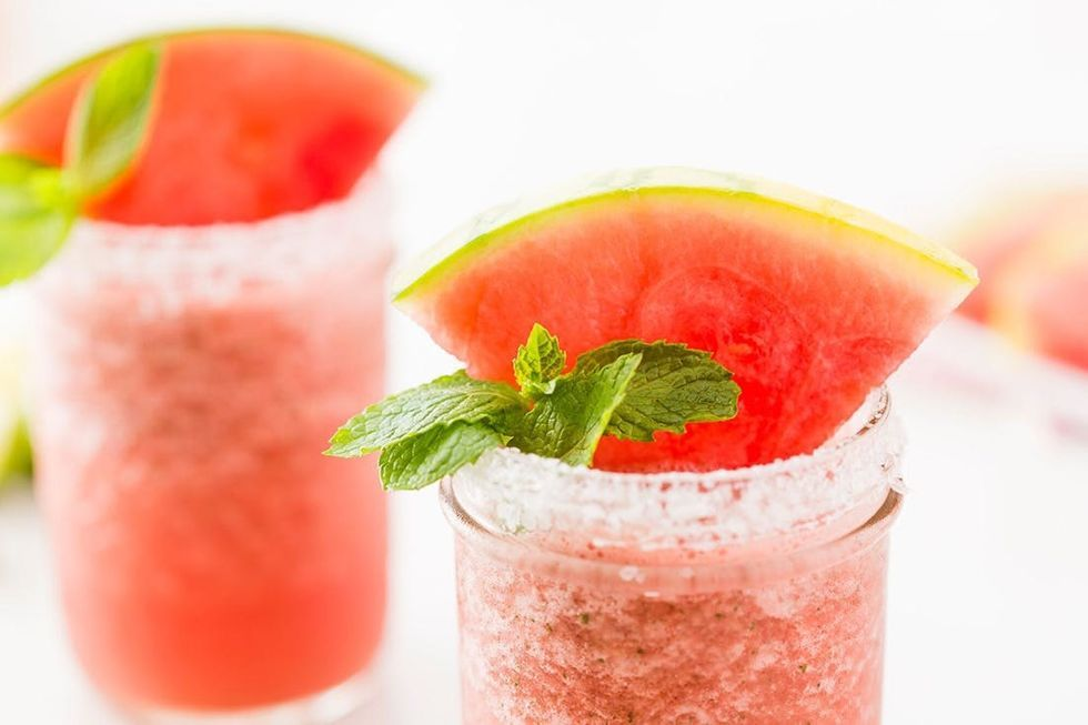 How to Make Frozen Watermelon Mint Margaritas Recipe in