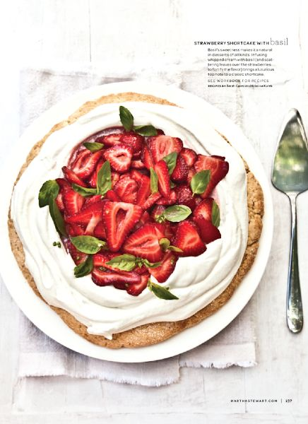 strawberry shortcake with basil