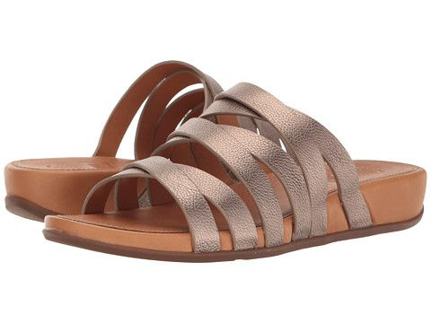 64e78b42836 FitFlop Lumy Leather Slide Bronze - Zappos.com