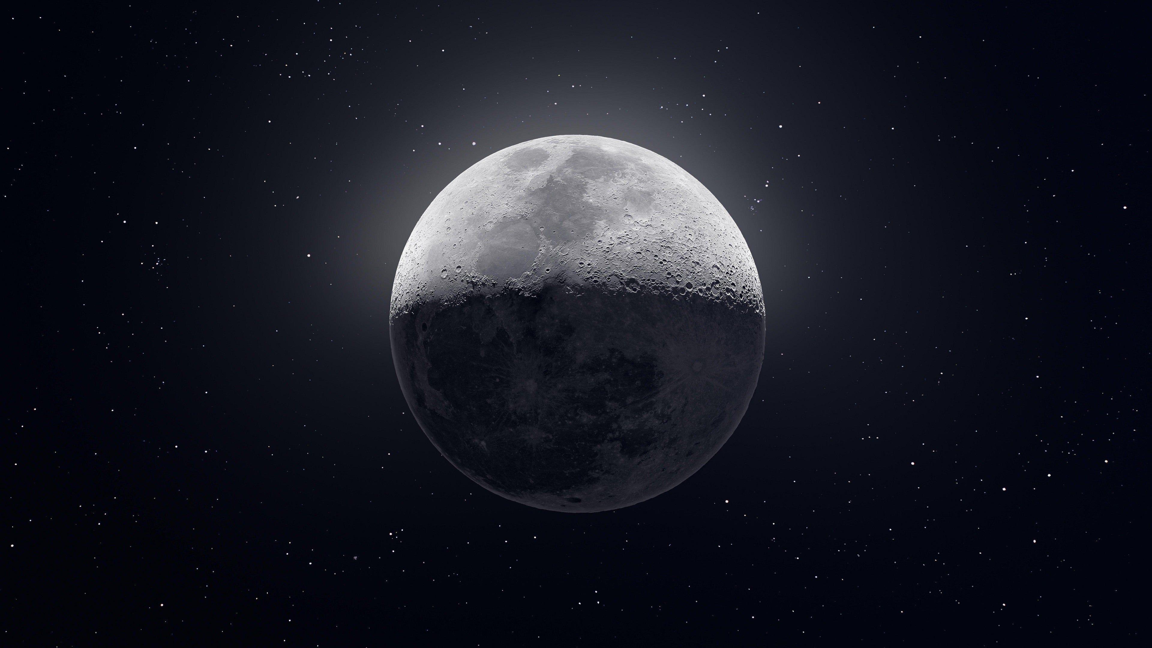 4k Moon [3840×2160] Credit To u/kvivek! 4K