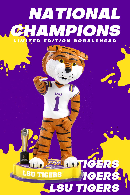 Lsu Tigers 2019 College Football National Champions Bobblehead In 2020 Ncaa College Football Lsu National Champions