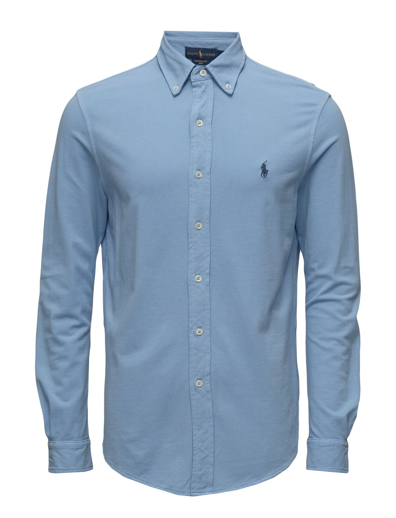 polo ralph lauren featherweight mesh shirt course blue men tops shirts  casual,romance by ralph