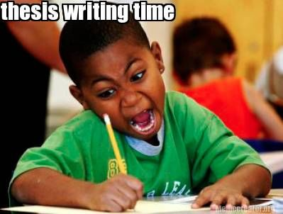 Writing of thesis