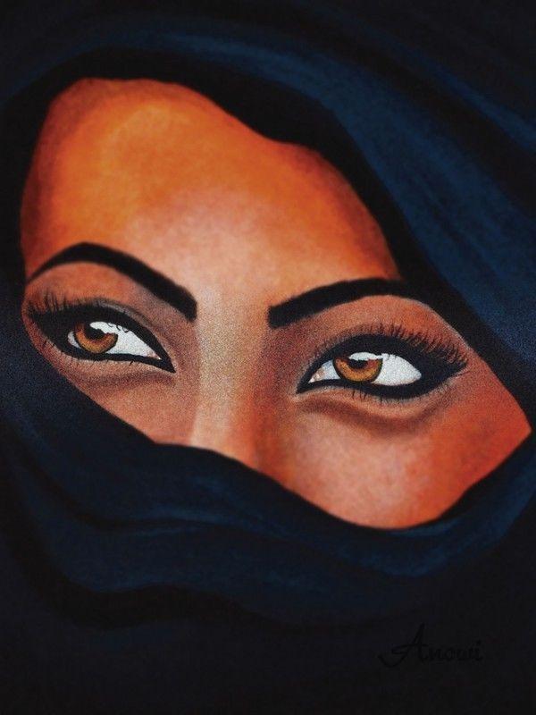 Poster o. Leinwand Bild Anowi Menschen Frau Malerei Schwarz #j2Z #afrikanischefrauen