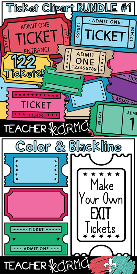 Ticket Templates BUNDLE #1 * Exit Tickets | Pinterest | Ticket ...