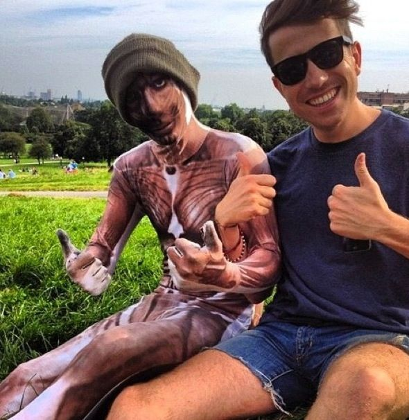Harry Styles in a Morphsuit