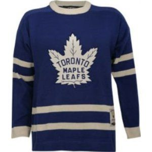 2500d7e648e Toronto Maple Leafs Vintage Blue Reebok Heritage Sweater Jersey ...