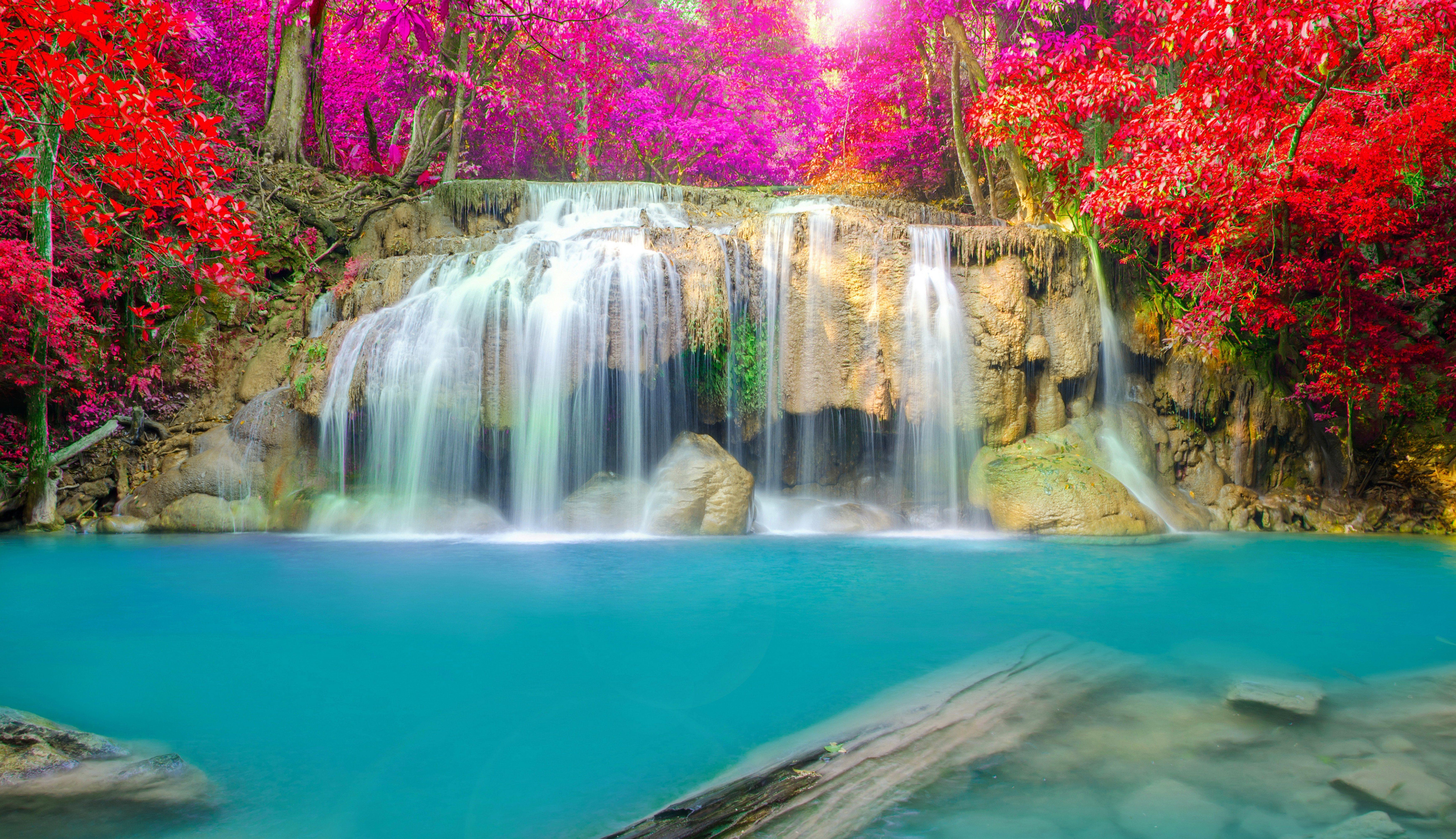 Waterfalls Desktop Waterfall Wallpaper Waterfall Scenery Landscape Wallpaper