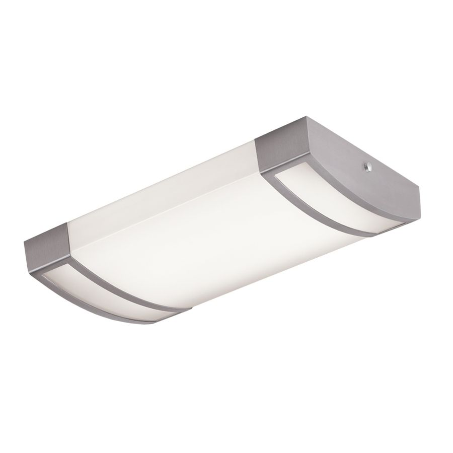 Portfolio Brushed Nickel Ceiling Fluorescent Light Energy Star Common 2 Ft Actual 24 75 In At Lowes