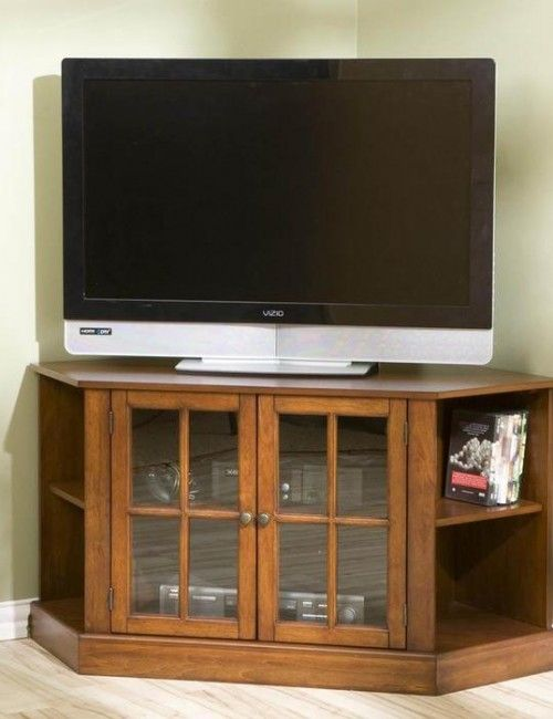 42 Inch Flat Screen Corner TV Stand Will Ideally Fit A Compact Studio Apartme