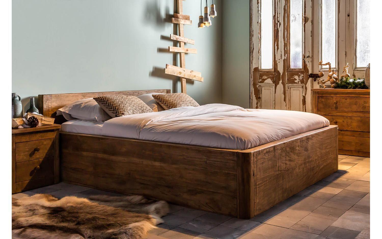 Ledikant bee onbewerkt teak slaapkamer