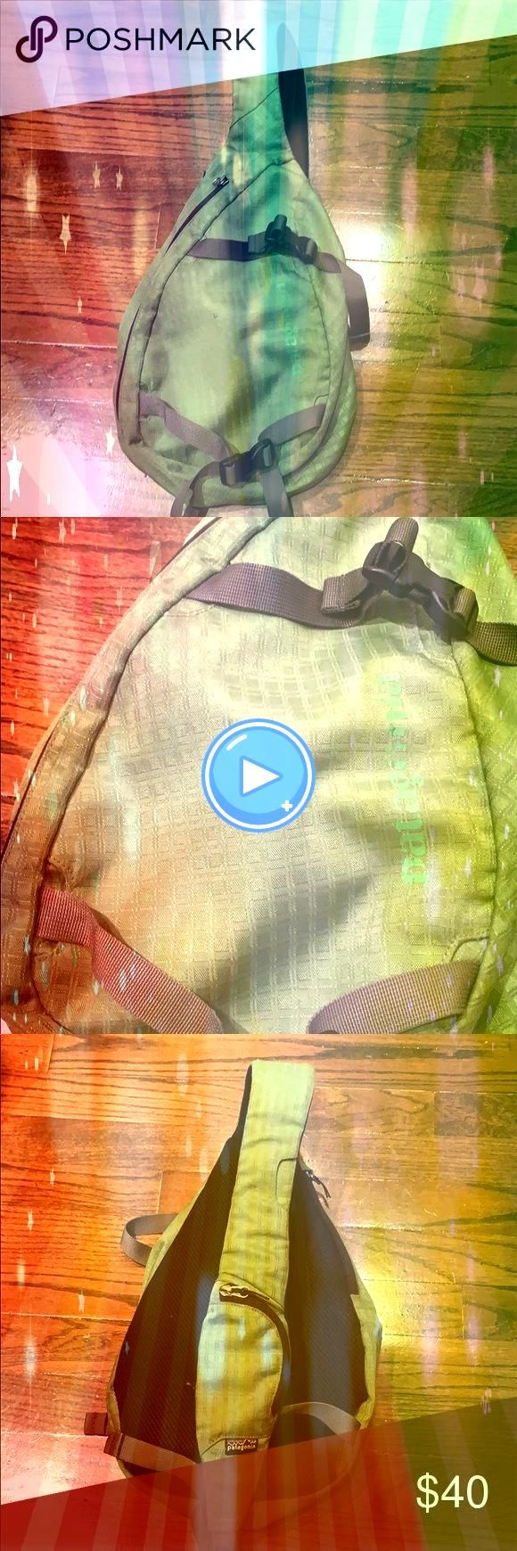 limoengroen Atom Bag Patagonië atoom sling bag Riemen en clips bevi  Patagonië limoengroen Atom Bag Patagonië atoom sling bag Riemen en clips bevi  Patagon...