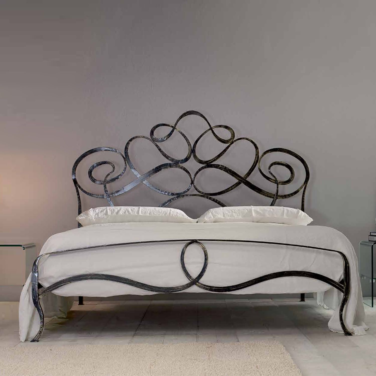 Arabesco Wrought Iron King Size Bed By Cosatto Letti Wrought