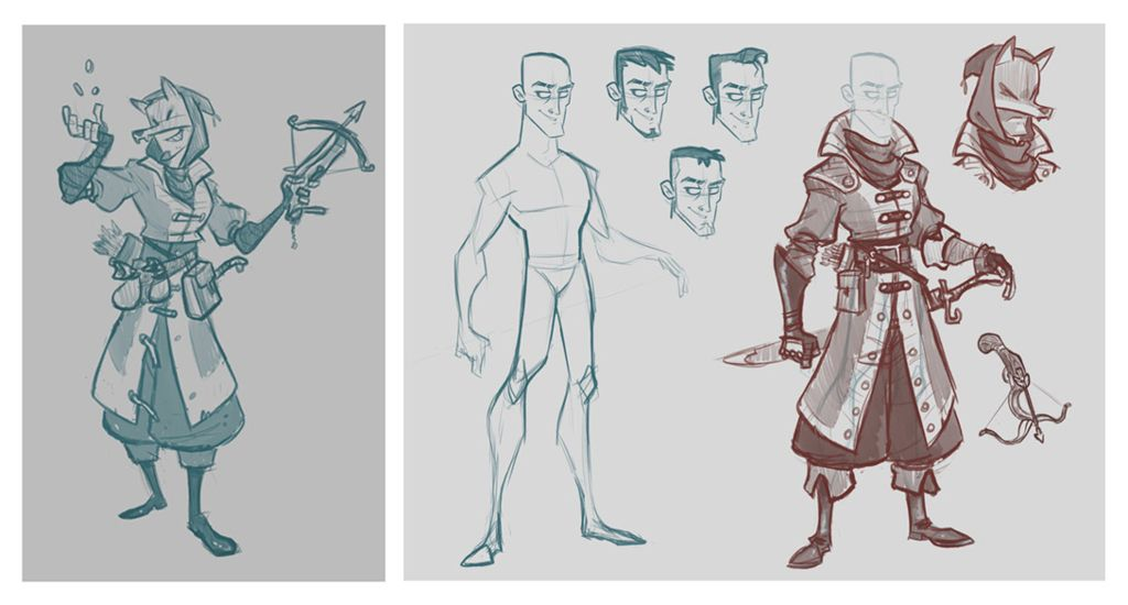 Character Concept Design Process : Character design and anatomy books with artists from