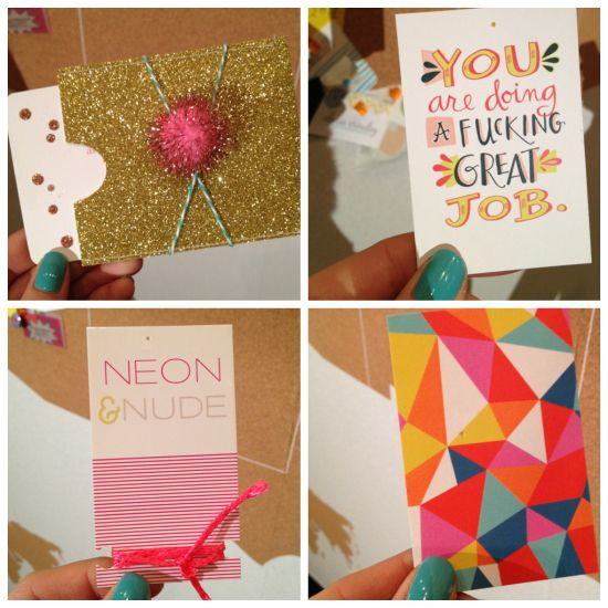 Awesome biz card designs at Altitude Design Summit 2013!