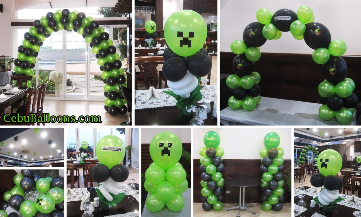Minecraft balloon decoration package at nordtropic resort for Balloon decoration packages philippines