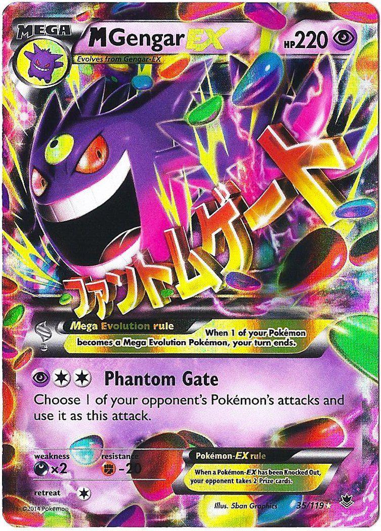 Amazon.com: Pokemon M Gengar Ex Xy Phantom Forces 35/119 ...