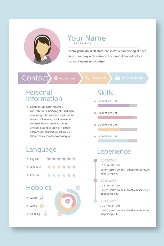 Contoh Cv Lamaran Kerja Menarik Yang Baik Benar Doc File In 2020 Graphic Design Resume Resume Design Creative Resume Design