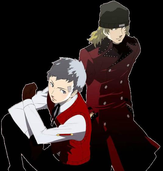 Transparent Akihiko And Shinjiro Meh Persona Persona 3 Anime Persona 3 Portable