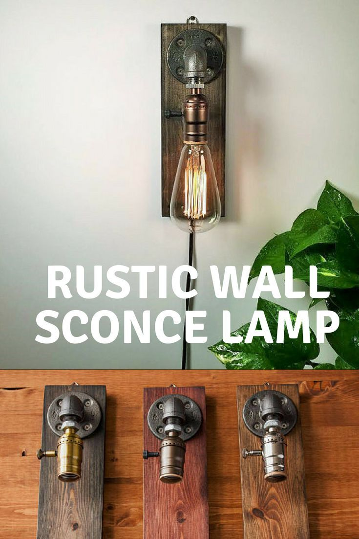 plug in industrial lighting. Plug In Wall Sconce Lamp/Rustic Decor/Sconce Lamp/Industrial Lighting /Steampunk Industrial N