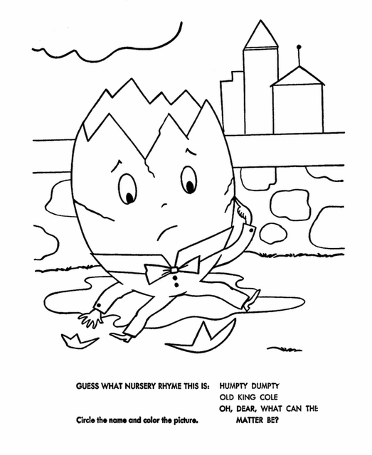 Humpty Dumpty Crafts and Humpty Dumpty Coloring Pages