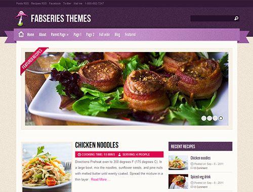 tema wordpress para blogs o sitios web de comida, cocina y ...