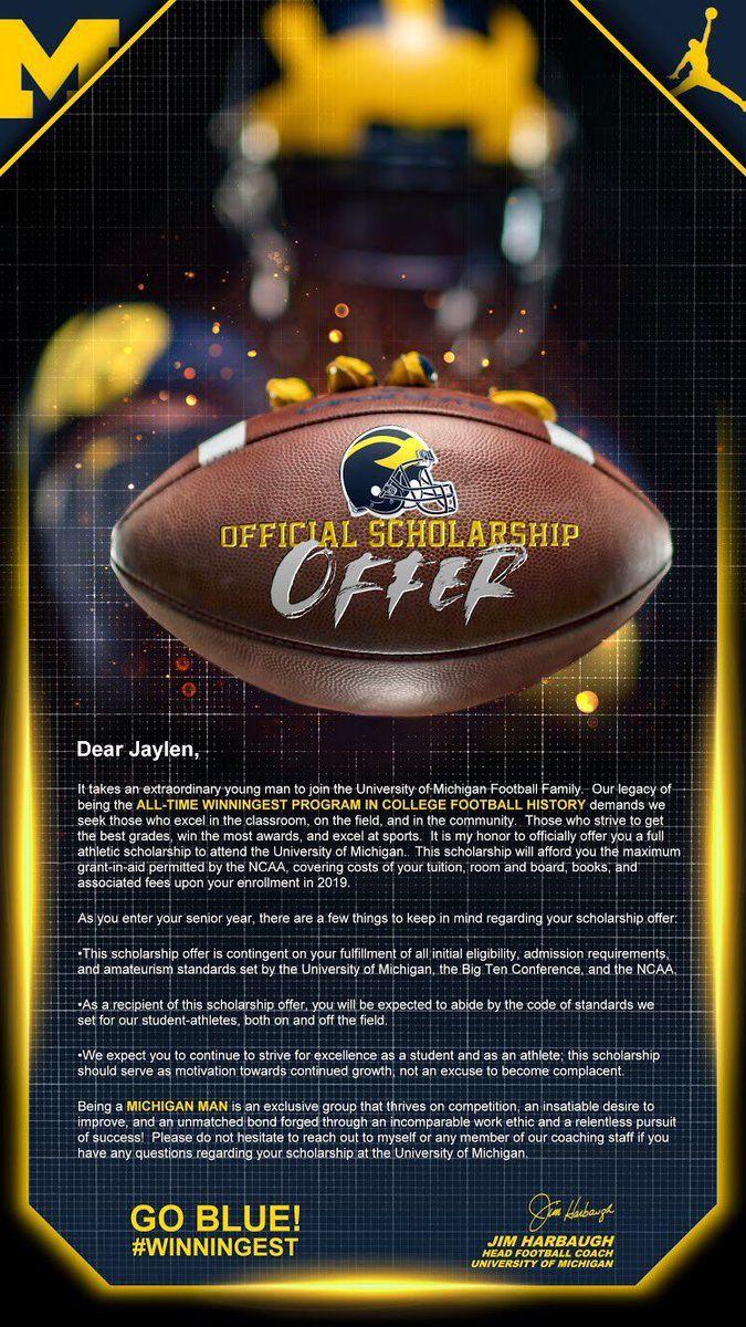 Michigan Athletic scholarships, University michigan