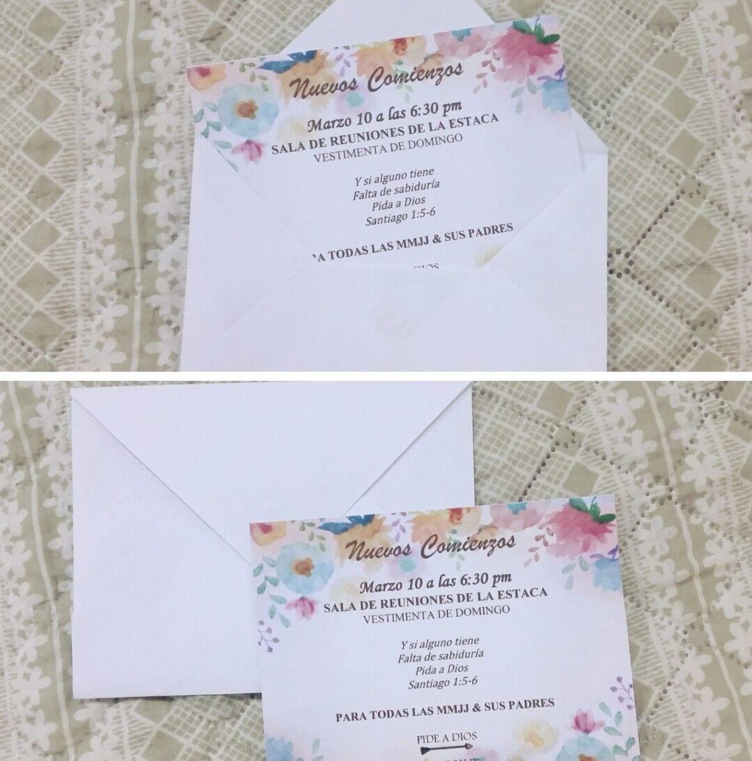 Invitaciones para Nuevos Comienzos