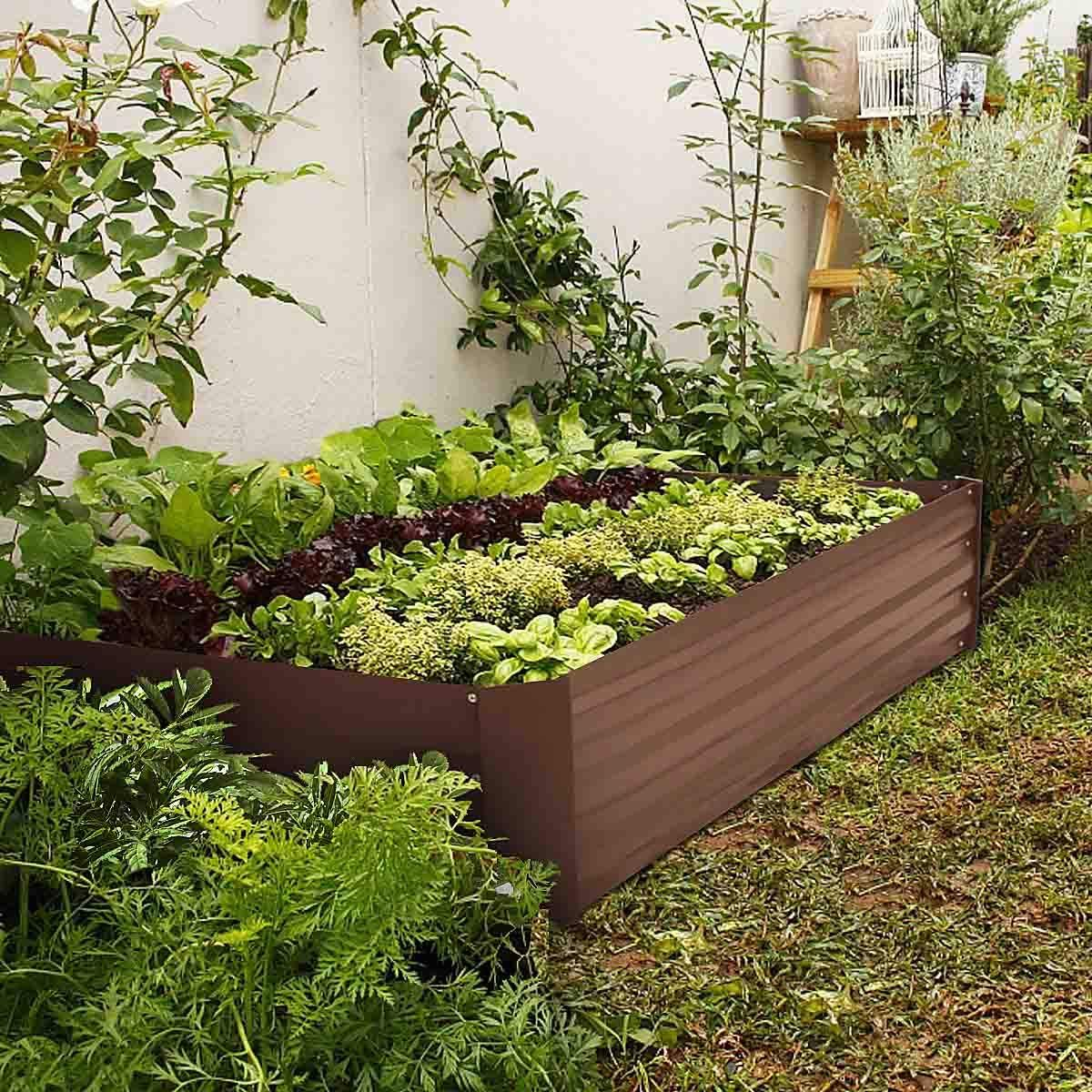 Metal Raised Garden Bed Kit Elevated Planter Box Outdoor